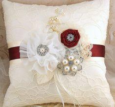 Anillo portador almohada almohada nupcial boda por SolBijou en Etsy