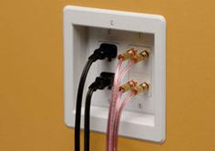 5 Places You Should Be Using Recessed Electrical Outlets in Your Home: Behind wall mounted tv. furniture you want to sit flush to wall. kitchen appliances (toaster) etc. Recessed Outlets, Electrical Outlets, Electrical Wiring, Electrical Plan, Home Decor Kitchen, Diy Home Decor, Kitchen Tv, Kitchen Redo, Kitchen Ideas