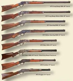 icu ~ Pin on Hunting and shooting ~ Ammo and Gun Collector: Winchester lever action rifle models Weapons Guns, Guns And Ammo, Winchester Lever Action, Winchester Rifle, Winchester 1873, Winchester Firearms, Cowboy Action Shooting, Lever Action Rifles, The Lone Ranger