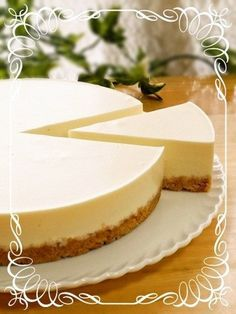 "Rich and Easy No-Bake Cheesecake (Plain)! ""This cake is so easy! It's a rich, no-bake cheesecake. It makes a great gift. Recipe by Rearea cheese"" Plain Cheesecake, Easy No Bake Cheesecake, Baked Cheesecake Recipe, Easy Sweets, Sweets Recipes, No Bake Desserts, Cheese Recipes, Quiches, Don Perignon"