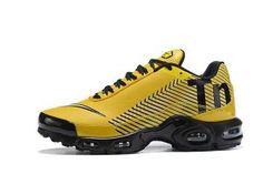 caacb9db277 Mens Running Shoes Nike Mercurial TN Air Max Plus Yellow Black White Nike  Tn