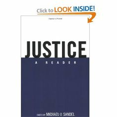 Justice: A Reader (Want to Read)