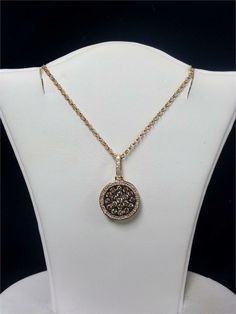 Diamond Disc Necklace- so simple but pretty