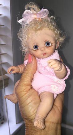 OOAK 8 Hand Sculpted polymer Clay Baby от VeraSusiesDollies