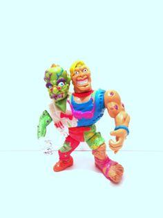 Vintage 1991 Toxic Crusaders HeadBanger Action Figure