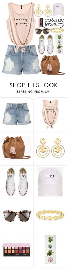 """""""#245 Chill"""" by mayblooms ❤ liked on Polyvore featuring Frame, UGG, Kenneth Jay Lane, Converse, Gentle Monster and Signature Gold"""