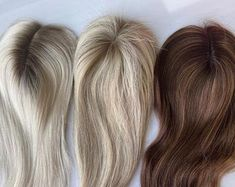 Carrie - Dark Blonde Body Wave Wig with Dark Roots Full Lace Natural Hairline Virgin Hair Blonde Curly Wig, Short Curly Wigs, Wavy Hair, 100 Human Hair, Human Hair Wigs, Carrie, Hair Patterns, Body Wave Wig, Hair Toppers