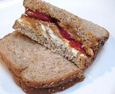 Foods to Eat After Your Work-Out:  Carbs and Protein -- Peanut-butter-berry-wich