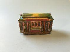 Teapot shaped house trinket box, vintage trinket box, unique trinket ...