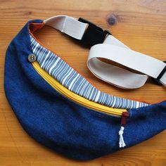 jeans bag upcycled hip bag organic von NouvelleVieHandcraft auf Etsy