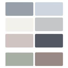 color pallets | starting in upper right: Bracing Blue, Upward, Classic Light Bluff ...