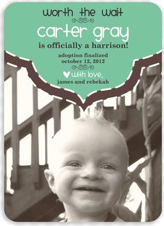 Custom Adoption Announcement  Worth the Wait by DarrahDesigns, $14.50