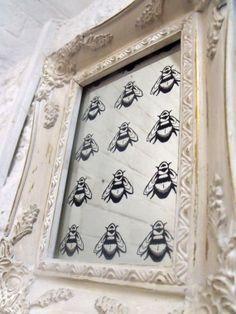 Stunning antique glass vintage bee mirror by HandCraftedMirrors