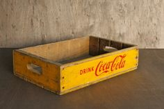 Love these old Coke crates without the dividers