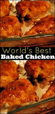 World's Best Baked Chicken | Aunt Bee's Recipes Freezer Cooking, Cooking Recipes, Healthy Recipes, Cooking Games, Cooking Oil, Snack Recipes, Best Baked Chicken Recipe, Cheddar Baked Chicken, Baked Chicken Pieces