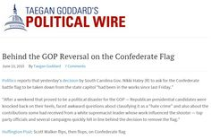 """Behind the Reversal of our Party of God on the Confederate Flag. https://www.pinterest.com/pin/540924605221071293/ Dylann Roof Was Church Member, His Family Prays For Victims. https://www.pinterest.com/pin/540924605221078410/ God's Political Party: Our infidel Founding-Father Thomas Jefferson was recently banned from the curriculum by the Christian Talibans in the """"buckle of the Bible-belt"""", Texas. Do you agree with the party of God? https://www.pinterest.com/pin/540924605213752319/"""