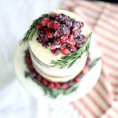 Christmas Cranberry Cake With White Chocolate Buttercream via @feedfeed on https://thefeedfeed.com/christmas-cakes/college_housewife/christmas-cranberry-cake-with-white-chocolate-buttercream