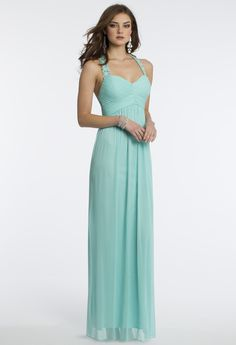 Camille La Vie Mesh Racer Back Prom Dress