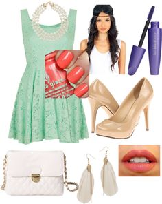 """Church Outfit for Spring"" by baileebach ❤ liked on Polyvore"
