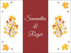 Add these personalized welcome bag labels to your autumn wedding and impress your guests with your attention to detail.