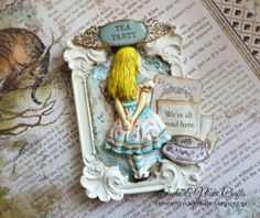 Alice In Wonderland Crafts, Decoupage, Scrapbook Albums, Scrapbooking, Arts And Crafts, Paper Crafts, Cardmaking And Papercraft, Album Photo, Ink Painting