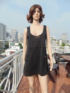 Shiny Black Broad Neck See Through Casual Pocketed Short Dress   $12.00 USD Only 1 available  https://www.etsy.com/listing/186307117/shiny-black-broad-neck-see-through?ref=shop_home_active_15  https://www.facebook.com/pages/Savvy-Ladies/796694807024977