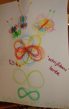 Lazy flowers and butterflies - crossing the mid-line Yoga For Kids, Art For Kids, Crafts For Kids, Pre Writing, Writing Skills, Pediatric Ot, Primary Education, Spring Art, Too Cool For School