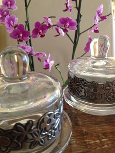 Butter dishes with pewter finishes made by Lee @ The Pewter Room