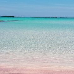 Elafonissi Beach, found onthe Westcoast ofCrete, is famous for it's pink sands. Yup, you heard us: PINK. The water is the brightest topaz blue and looks out onto the Libyan sea. Oh andnaturists are often found having a wander around - so there's a whole lotta naked too.   - Sugarscape.com