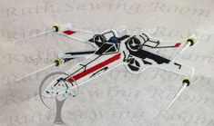Star Wars X Wing Fighter Rebel Applique, Applique Embroidery Design – DIGITIZING BY ALLEN