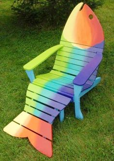 Cool Fish Pallet Adirondack Chair Ideas