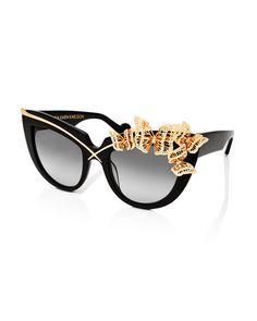 Anna-Karin Karlsson  Lusciousness and Wings Cat-Eye #Sunglasses, Black.