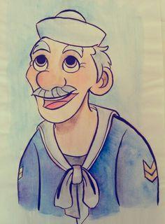 #drawing #sailor #oldmen