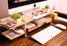Cabinet Monitor Stand, £27.56 | 23 Ways To Get Your Shit Together In 2016