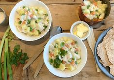 Plukkfisk - FAMILIEMAT Cheeseburger Chowder, Soup, Cooking Recipes, Lunch, Recipies, Chef Recipes, Eat Lunch, Soups