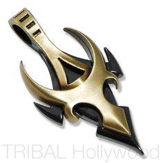 MASCHIO The Bull Pendant in Gunmetal and Brass - $38