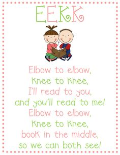 We do a lot of partner reading so this is a great little poster to display in the room.