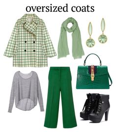 """""""Oversized. coats"""" by mcounce ❤ liked on Polyvore featuring Naeem Khan, Victoria's Secret and Gucci"""