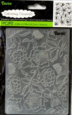 Darice Floral Whimsical Embossing Essentials Folder is available at Scrapbookfare.