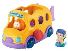 Amazon.com: Fisher-Price Nickelodeon's Bubble Guppies Bubble Bus Baby Toy: Toys & Games