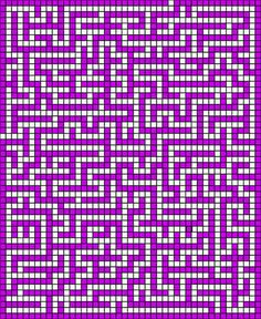Tunisian Crochet A-MAZE-ING: Free pattern versions) - CROCHET ~ It is an actual, functional maze, with entry and exit points. Can be done using either Tapestry Crochet or Tunisian Crochet - Graph Crochet, Tunisian Crochet Patterns, Tapestry Crochet Patterns, Mosaic Patterns, Loom Patterns, Crochet Stitches, Free Crochet, Stitch Patterns, Blanket Crochet