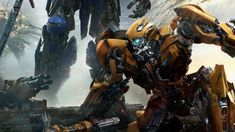 It's Optimus vs Bumblebee in a New Transformers Poster