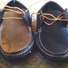 Arrow Moccasins Two Eye Tie. 2 pairs: brown & two tone brown