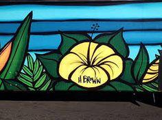Resultado de imagen para heather brown wallpaper Heather Brown, Beach Flowers, Surf Art, Soldering, Stained Glass, Hawaii, Surfing, Lily, Watercolor