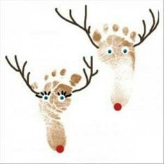 DIY....CUTE REINDEER FOOTPRINTS...Make these each year and display at Christmas with age of child ...Great to hand down to your children when they are adults. You could also send them as a Christmas card.   ✿´¯`*•.¸¸✿Follow me for daily recipes, fun & handy tips, motivation, DIY ideas and feel free to share your favorite things too:) ┊  ┊  ┊  ★ ┊  ┊  ☆ ┊  ★ ☆ ✿´¯`*•.¸¸✿★ℒℴѵℯ ℒℴѵℯ★ PLEASE SHARE ★ℒℴѵℯ Click and join us here http://www.facebook.com/groups/dianaseghorn/ **Feel free to send me a