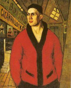 El Boxeador. Camilo Mori, 1923. Museo Nacional de Bellas Artes, Santiago-Chile.