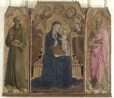 La Vierge et l'Enfant entourés d'anges, Saint Antoine de Padoue et Saint Jean l'Évangéliste   Musée du Louvre   Paris