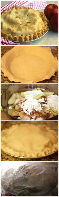 How to freeze and bake an apple pie!