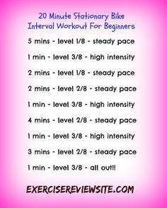 This is a short 20-minute interval workout that you can do on a stationary exercise bike.