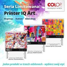 Printer IQ. Unikalny. Jak Ty. Dowiedz się więcej o Limitowanej serii pieczątek IQ! -> http://www.colop.pl/index.php/edycja-limitowana-iq-art.htm